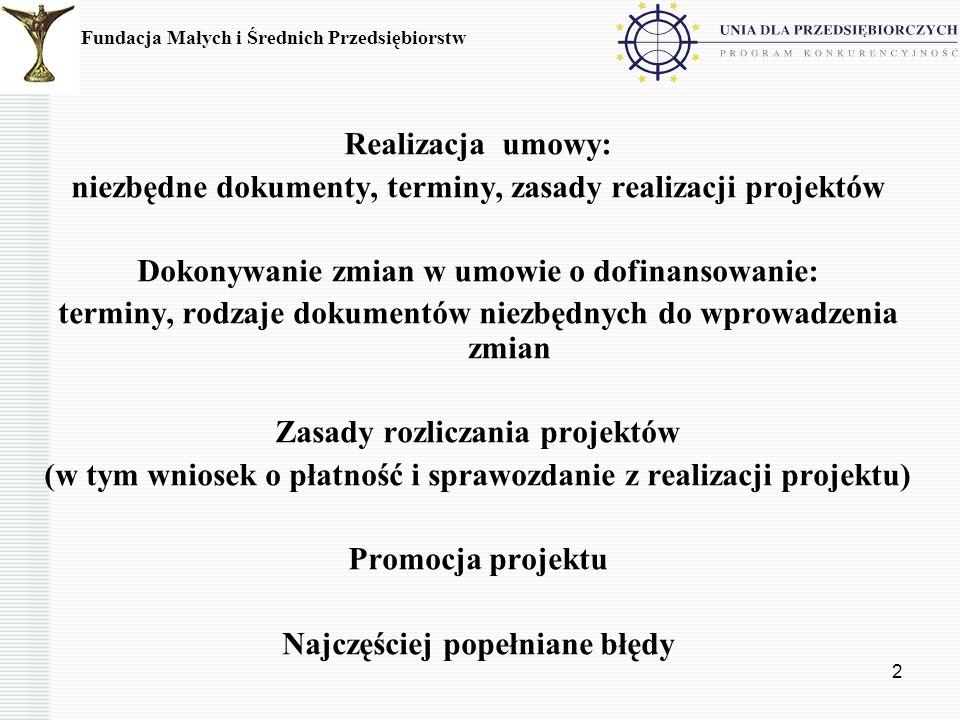 3 Realizacja umowy Zgodnie z §.2 ust. 3 pkt.