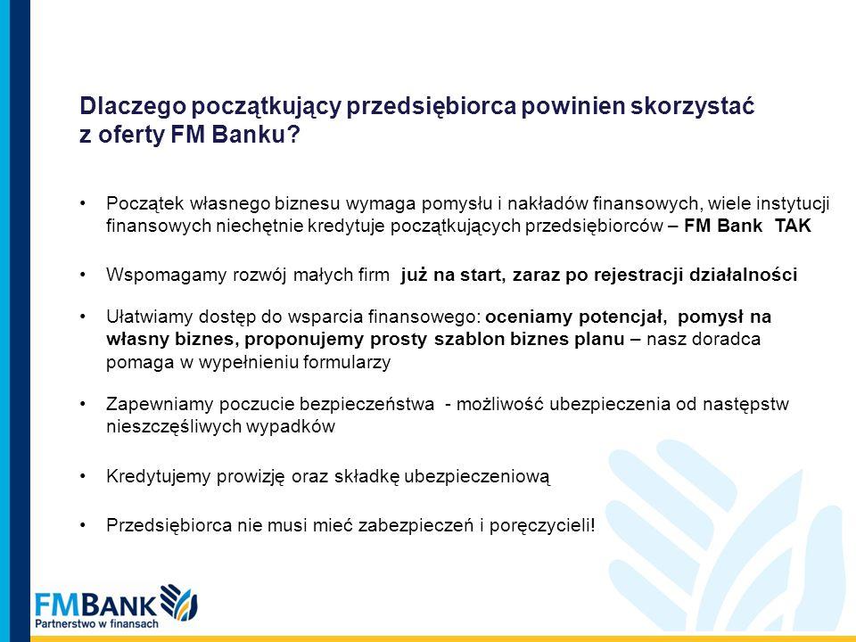 Dlaczego początkujący przedsiębiorca powinien skorzystać z oferty FM Banku? Początek własnego biznesu wymaga pomysłu i nakładów finansowych, wiele ins