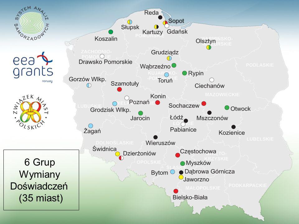 9 6 Grup Wymiany Doświadczeń (35 miast)