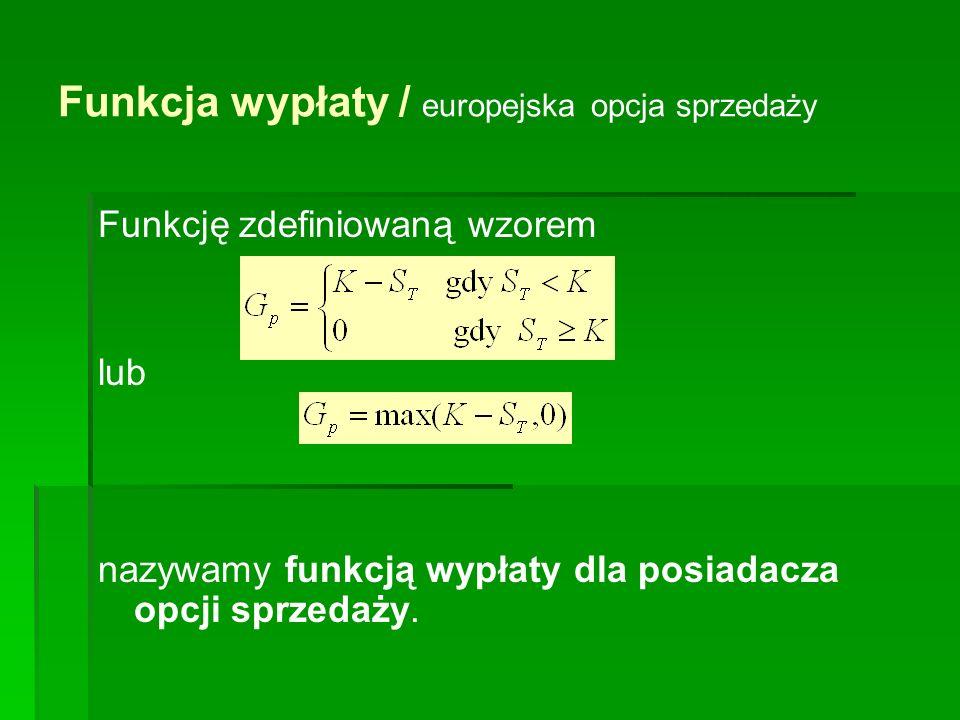Przykład 1.Cena wykonania 3 – miesięcznego kontraktu forward na akcję pewnej spółki wynosi 43 zł.