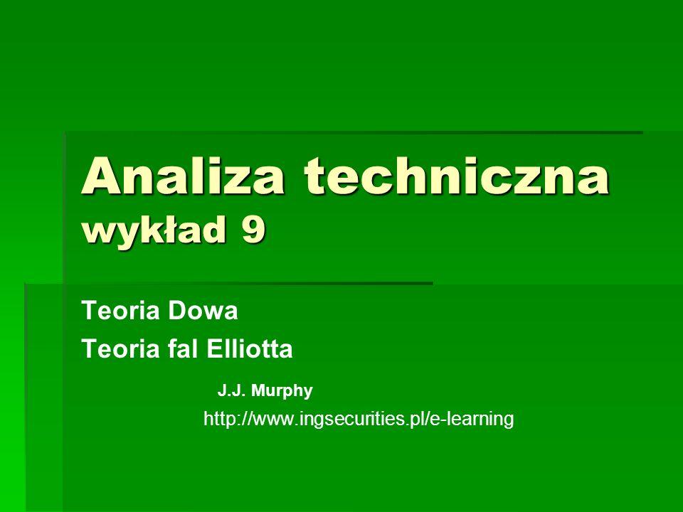 Analiza techniczna wykład 9 Teoria Dowa Teoria fal Elliotta J.J. Murphy http://www.ingsecurities.pl/e-learning