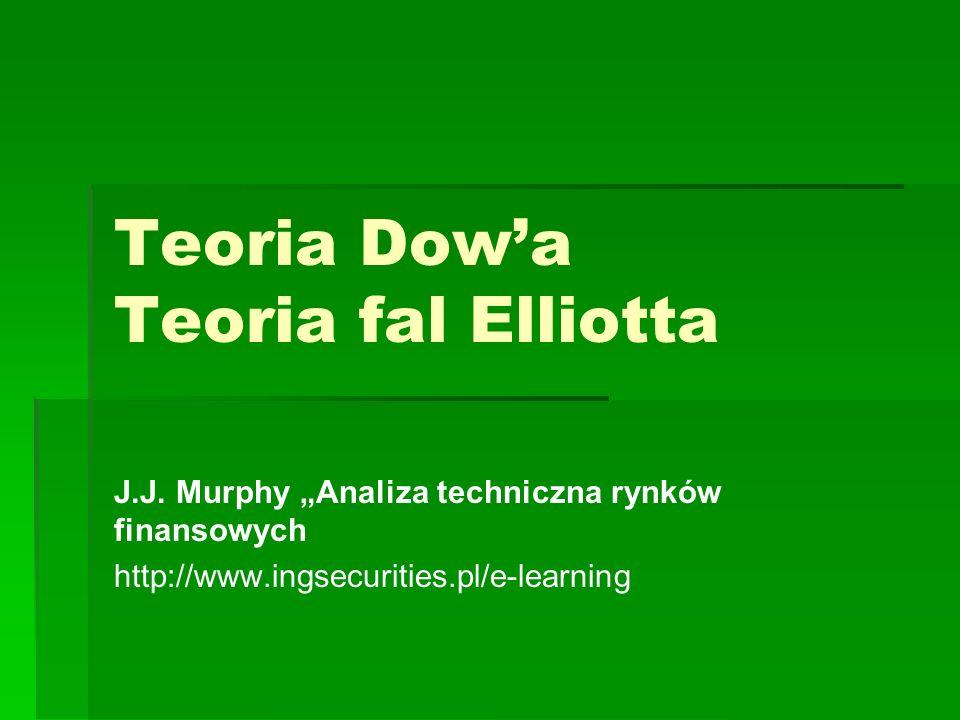 Teoria Dowa Teoria fal Elliotta J.J. Murphy Analiza techniczna rynków finansowych http://www.ingsecurities.pl/e-learning