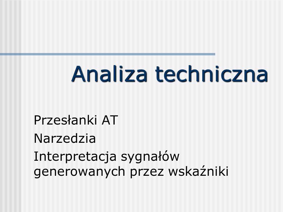 Analiza techniczna Przesłanki AT Narzedzia Interpretacja sygnałów generowanych przez wskaźniki