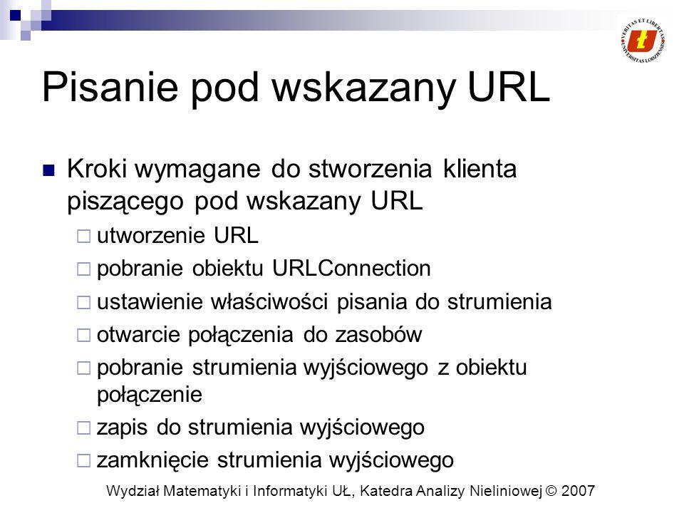 Wydział Matematyki i Informatyki UŁ, Katedra Analizy Nieliniowej © 2007 Przykład 3.