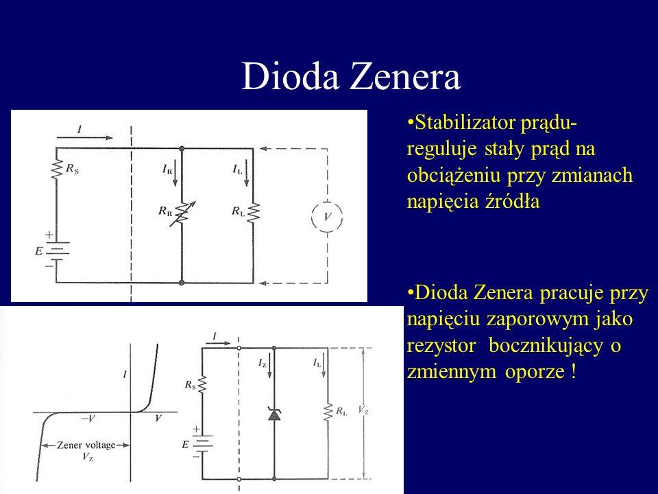 Dioda jako prostownik prądu 220 50 Hz 220 50 Hz Prostownik Jedno-połówkowy Prostownik dwu-połówkowy