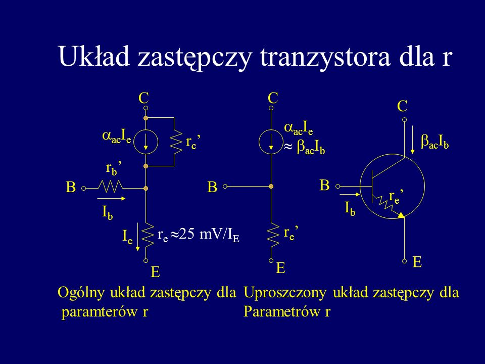 Linia pracy tranzystora Układ wyjscia Układ wejścia V CC =+10 V V BB =+0 lub 5 V R L =1 k, Układ jest w stanie aktywnym gdy U BE >0.6 V Układ ze wspól