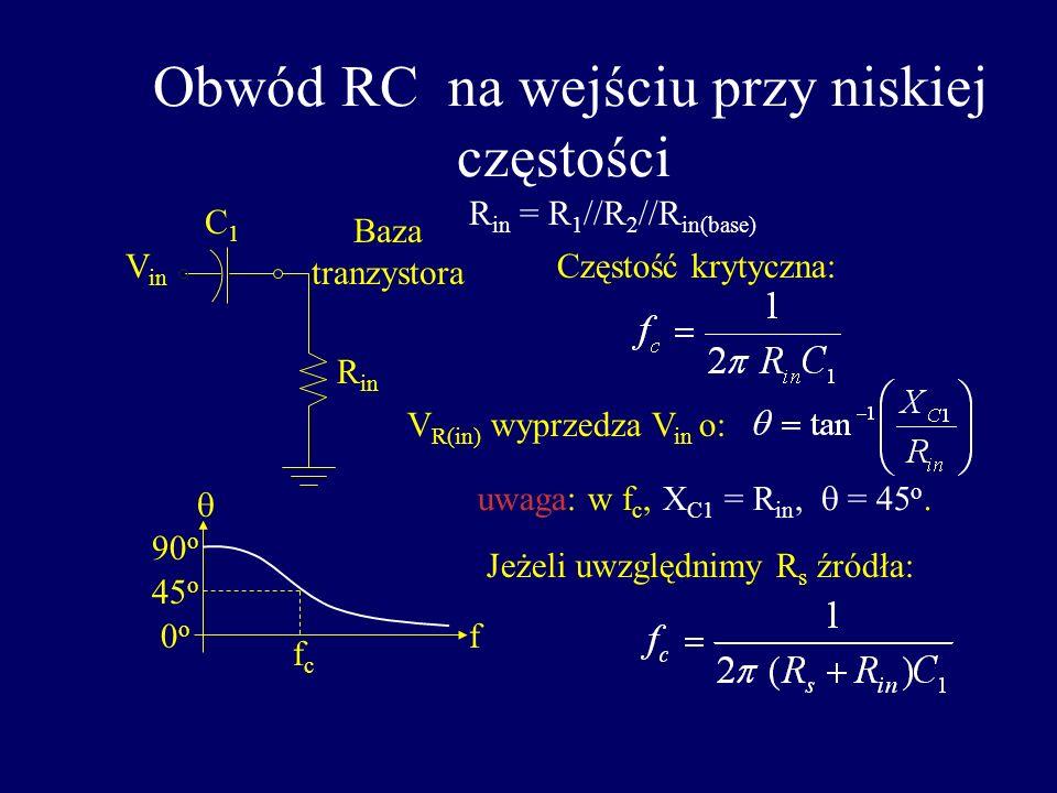 Ogólna funkcja transmisji A v (dB) = 20 log A v Częstotliwość odcięcia krytyczne, jest częstością dla A v spadającego o 3 dB. To odpowiada 0.707A v(ma
