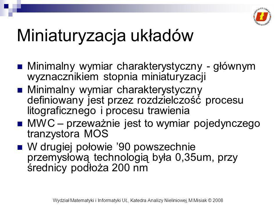 Wydział Matematyki i Informatyki UŁ, Katedra Analizy Nieliniowej, M.Misiak © 2008 Układy sekwencyjne Modelem układu sekwencyjnego jest automat.