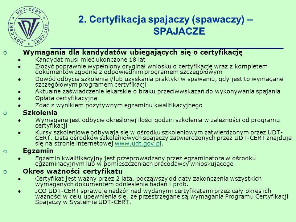 Wymagania dla kandydatów ubiegających się o certyfikację Kandydat musi mieć ukończone 18 lat Złożyć poprawnie wypełniony oryginał wniosku o certyfikac