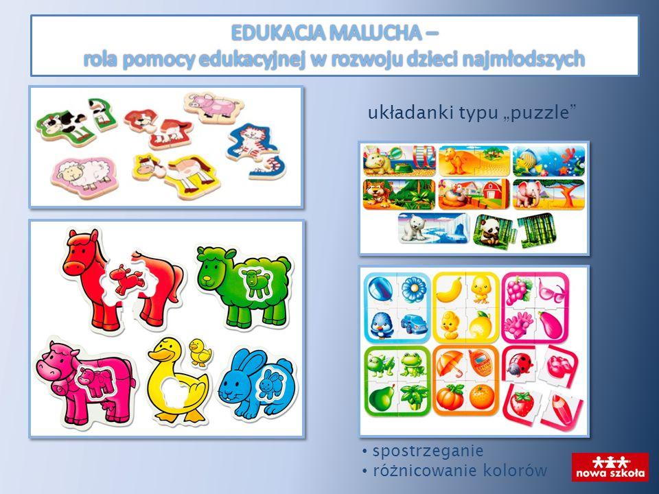 uk ł adanki typu puzzle spostrzeganie ró ż nicowanie kolorów