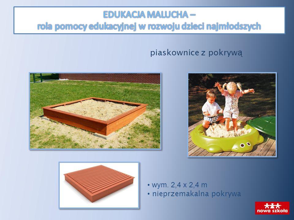 wym. 2,4 x 2,4 m nieprzemakalna pokrywa piaskownice z pokryw ą