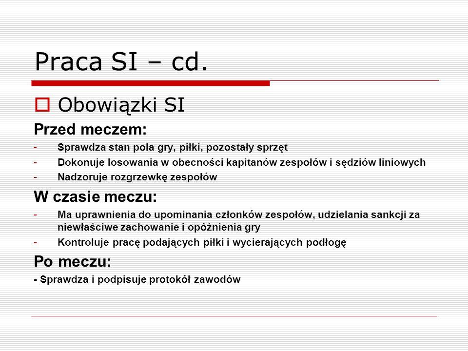 Praca SI – cd.