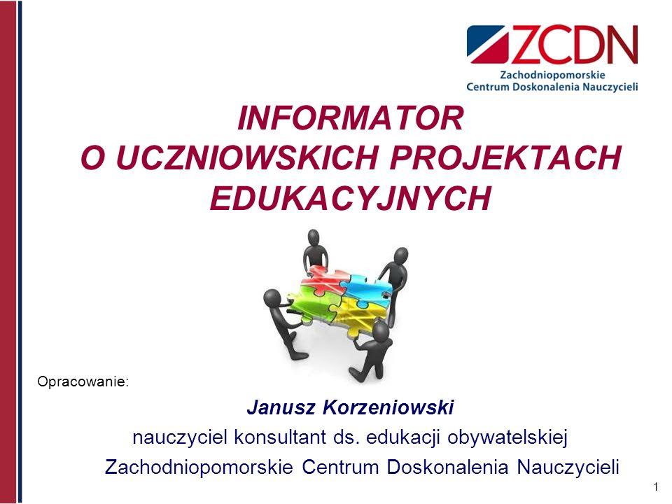 2 Projekt edukacyjny w prawie oświatowym Rozporządzenie Ministra Edukacji Narodowej z dnia 23 grudnia 2008 r.