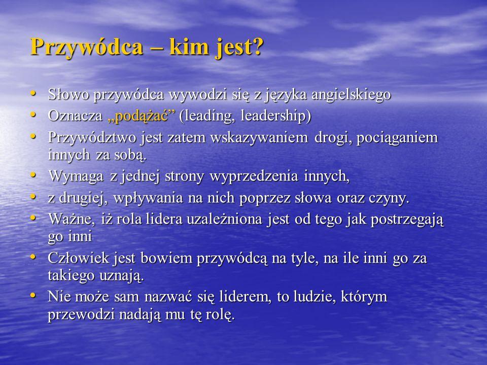 Koncepcje przywództwa Styl 9.1.