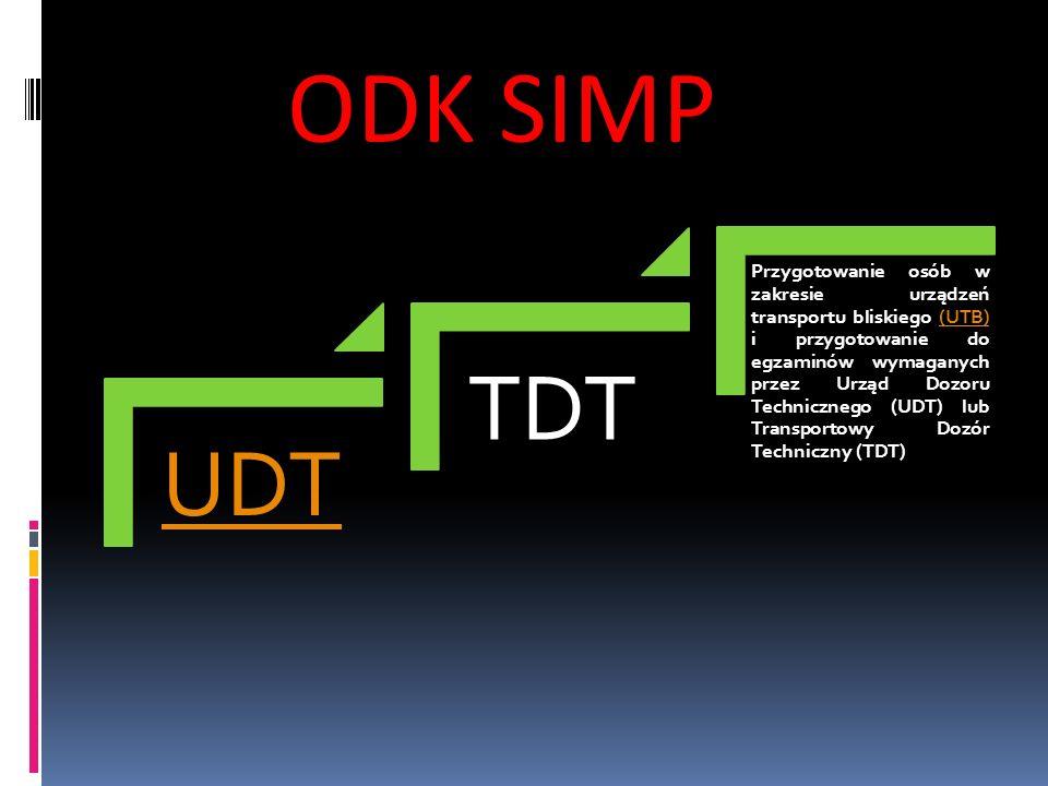 UDT TDT Przygotowanie osób w zakresie urządzeń transportu bliskiego (UTB) i przygotowanie do egzaminów wymaganych przez Urząd Dozoru Technicznego (UDT