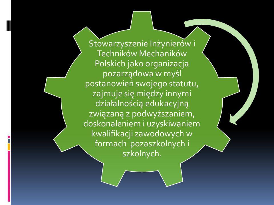 Stowarzyszenie Inżynierów i Techników Mechaników Polskich jako organizacja pozarządowa w myśl postanowień swojego statutu, zajmuje się między innymi d