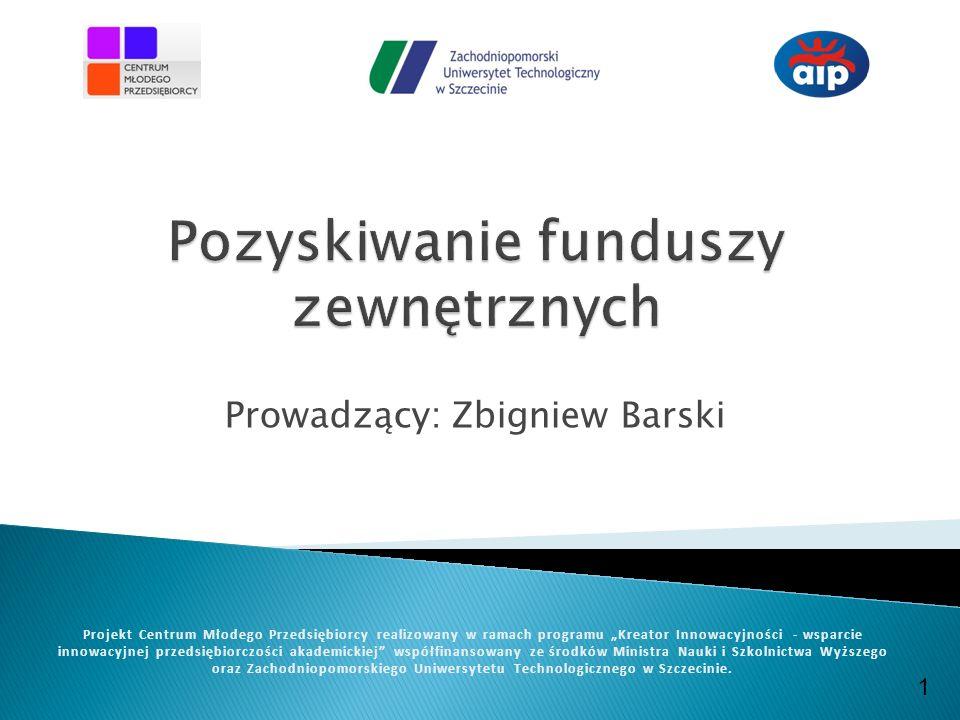 www.cmp.zut.edu.pl Projekt Centrum Młodego Przedsiębiorcy realizowany w ramach programu Kreator Innowacyjności -wsparcie innowacyjnej przedsiębiorczości akademickiej współfinansowany ze środków Ministra Nauki i Szkolnictwa Wyższego Co to jest projekt.