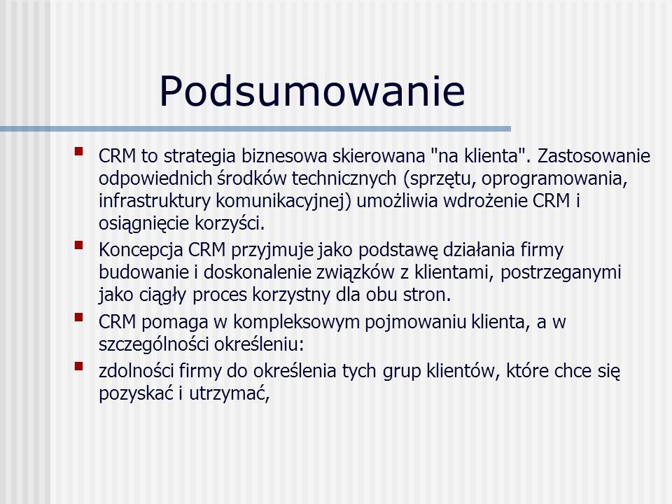 Podsumowanie CRM to strategia biznesowa skierowana