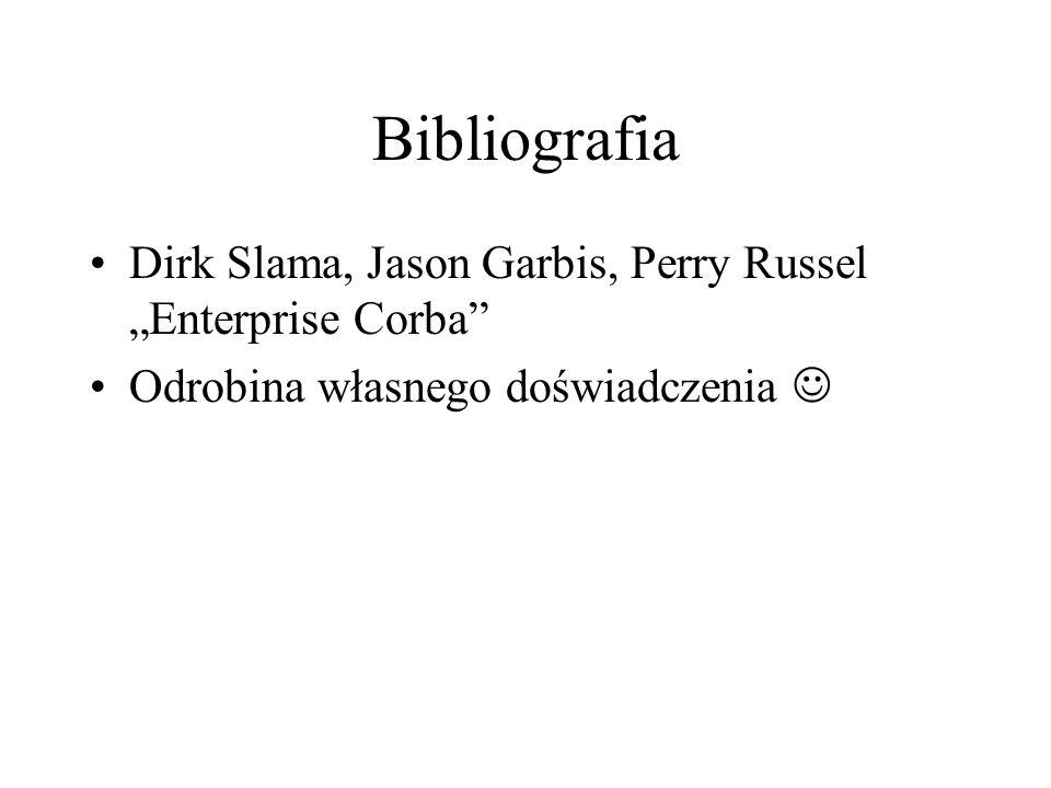 Bibliografia Dirk Slama, Jason Garbis, Perry Russel Enterprise Corba Odrobina własnego doświadczenia