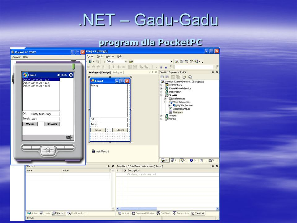 .NET – Gadu-Gadu program dla PocketPC
