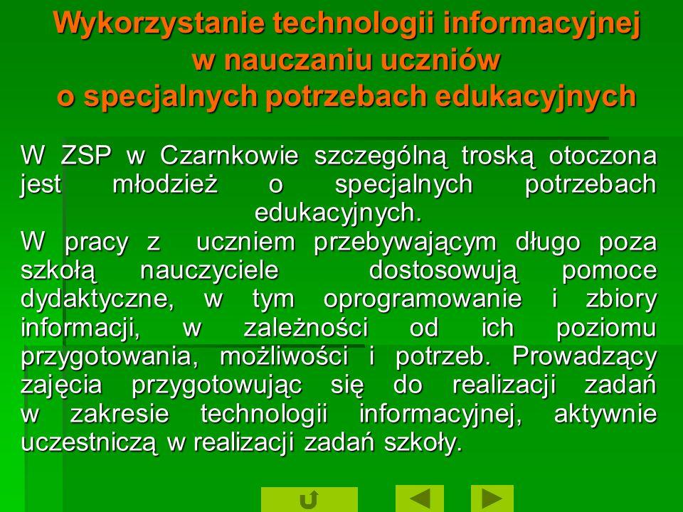 Cele: wykształcenie u każdego ucznia zrozumienia podstaw technologii informacyjnej, odpowiedniego poziomu umiejętności jej stosowania, wykształcenie u każdego ucznia zrozumienia podstaw technologii informacyjnej, odpowiedniego poziomu umiejętności jej stosowania, osiągnięcie przez uczniów odpowiedniego wykorzystania technologii informacyjnych w różnych obszarach kształcenia, jako pomoc, środek, narzędzie w procesie uczenia się.