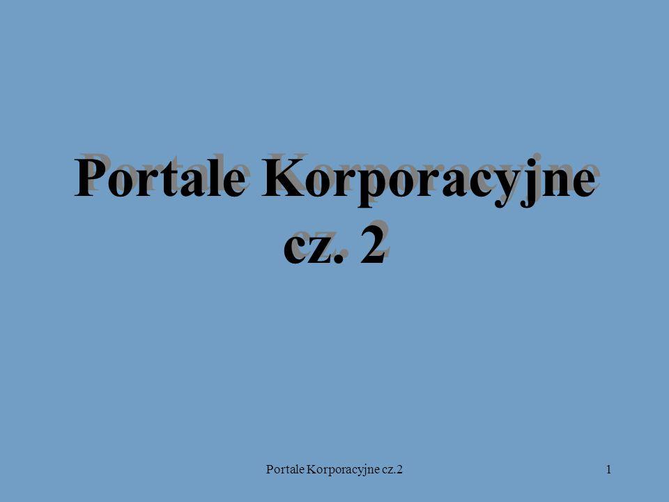 2 Portal korporacyjny – inne nazwy EP – Enterprise Portal EIP – Enterprise Information Portal Corporate Portal