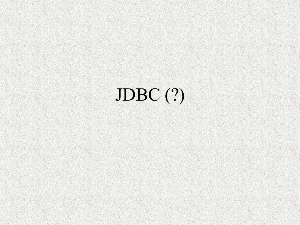 JDBC (?)