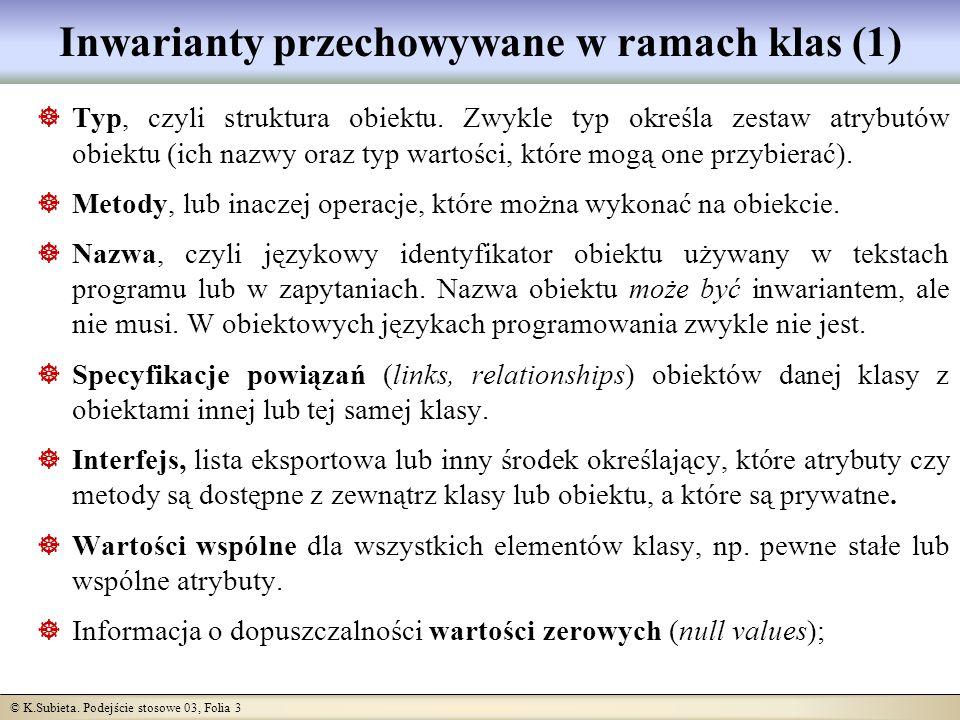 © K.Subieta.Podejście stosowe 03, Folia 24 Wartości zerowe Zwykle są oznaczane jako NULL lub NIL.