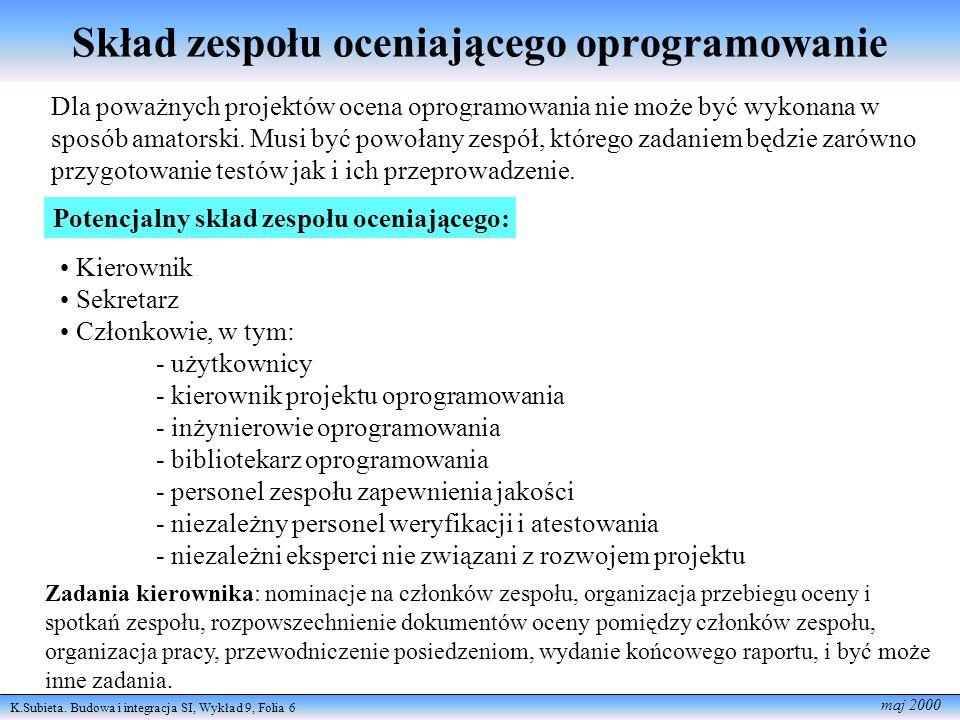 K.Subieta.Budowa i integracja SI, Wykład 9, Folia 7 maj 2000 Co to jest audyt.