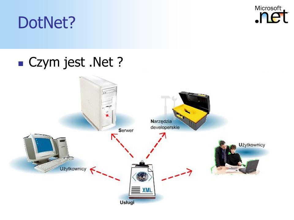 2 DotNet? Czym jest.Net ?