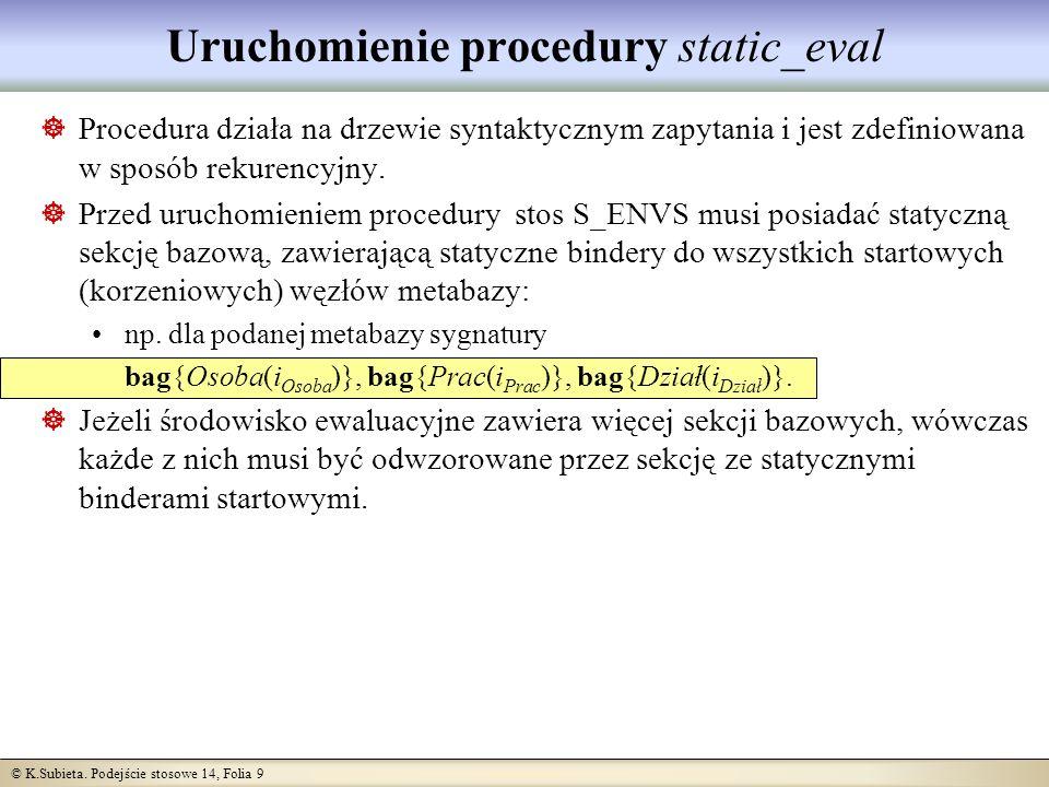 © K.Subieta.Podejście stosowe 14, Folia 20 Czy mocna kontrola typów musi być taka mocna.