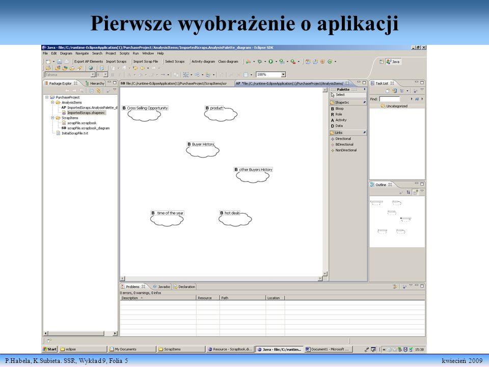 P.Habela, K.Subieta. SSR, Wykład 9, Folia 5 kwiecień 2009 Pierwsze wyobrażenie o aplikacji