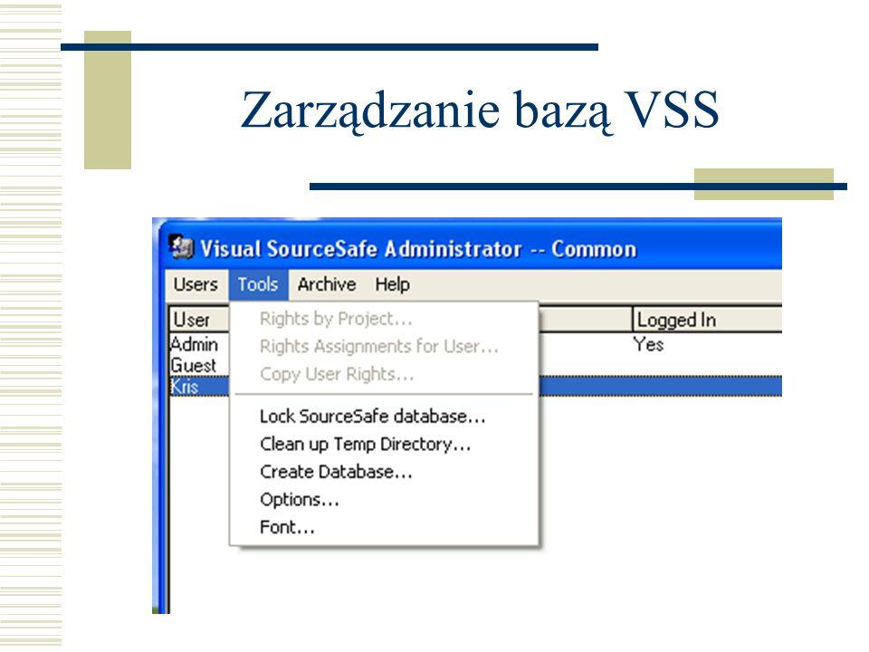 Zarządzanie bazą VSS