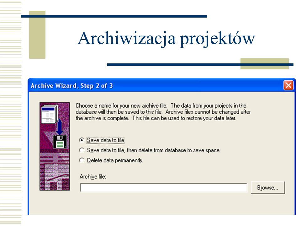 Archiwizacja projektów