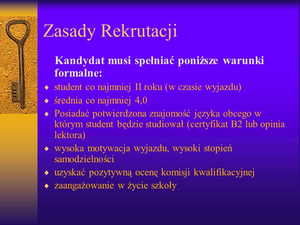 Zasady Rekrutacji cd.
