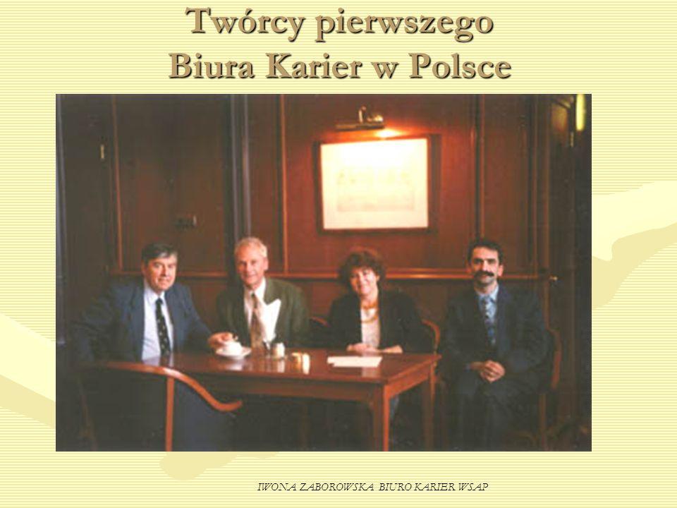 IWONA ZABOROWSKA BIURO KARIER WSAP Twórcy pierwszego Biura Karier w Polsce