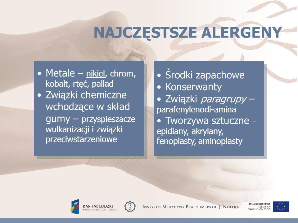 Możliwości aktywizacji zawodowej osób z chorobami alergicznymi skóry Projekt współfinansowany ze środków Unii Europejskiej w ramach Europejskiego Funduszu Społecznego