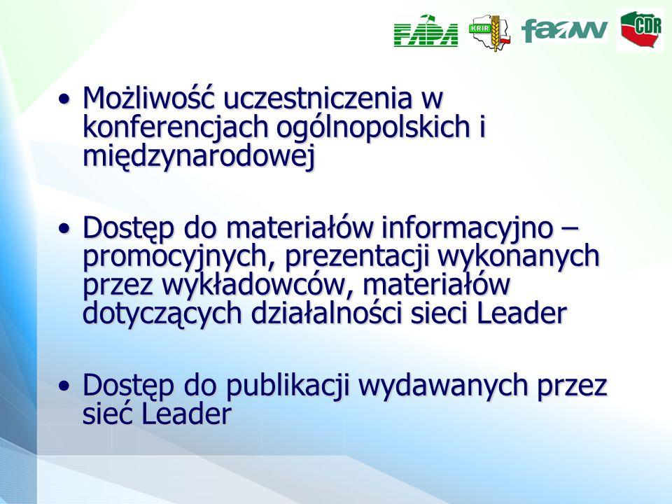 Możliwość uczestniczenia w konferencjach ogólnopolskich i międzynarodowejMożliwość uczestniczenia w konferencjach ogólnopolskich i międzynarodowej Dos