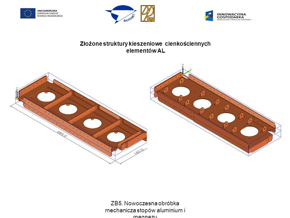 ZB5. Nowoczesna obróbka mechanicza stopów aluminium i magnezu Złożone struktury kieszeniowe cienkościennych elementów AL