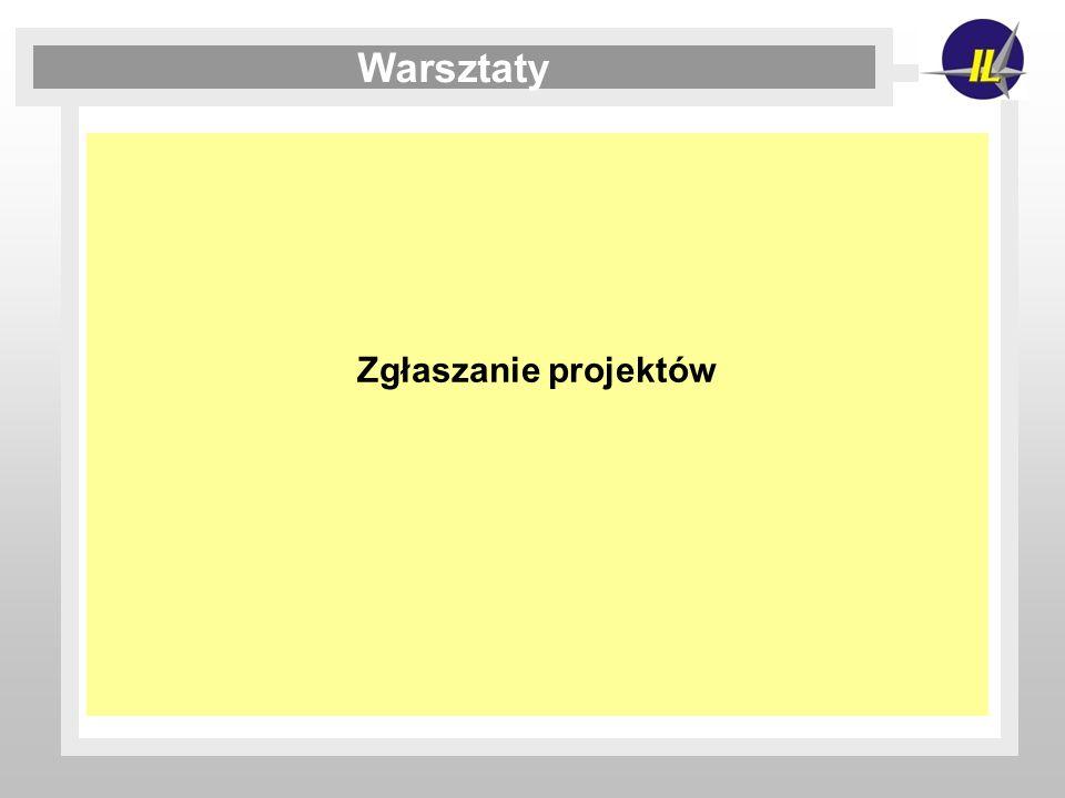 Zgłaszanie projektów Warsztaty