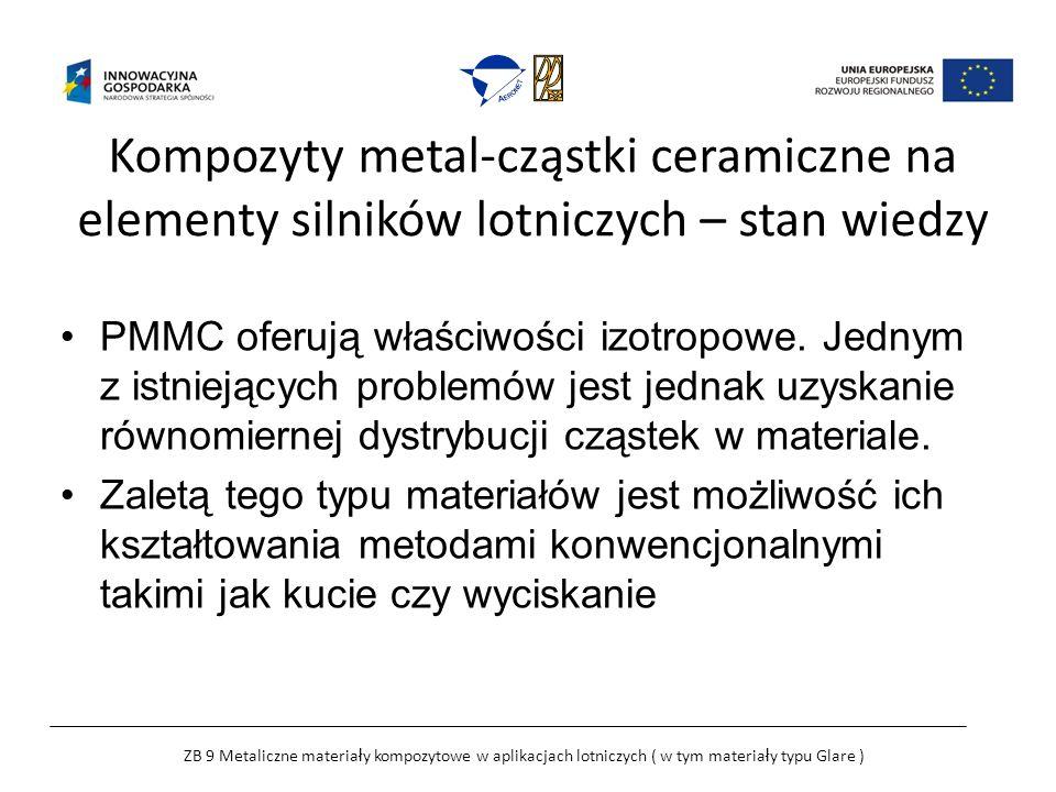 Kompozyty metal-cząstki ceramiczne na elementy silników lotniczych – stan wiedzy PMMC oferują właściwości izotropowe.