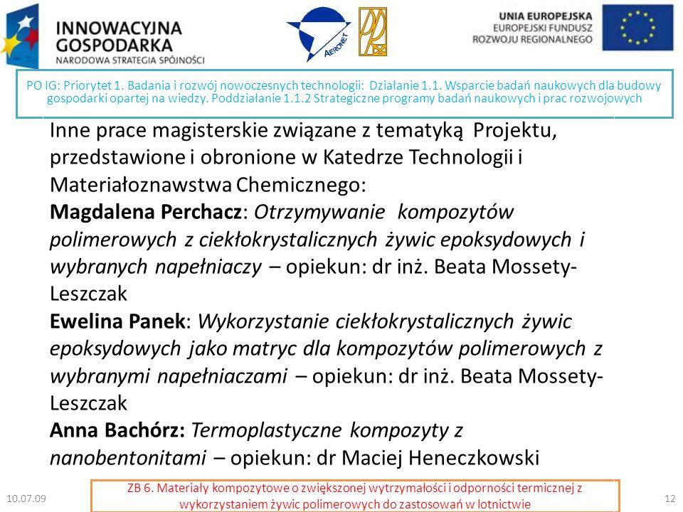 PO IG: Priorytet 1. Badania i rozwój nowoczesnych technologii: Działanie 1.1.