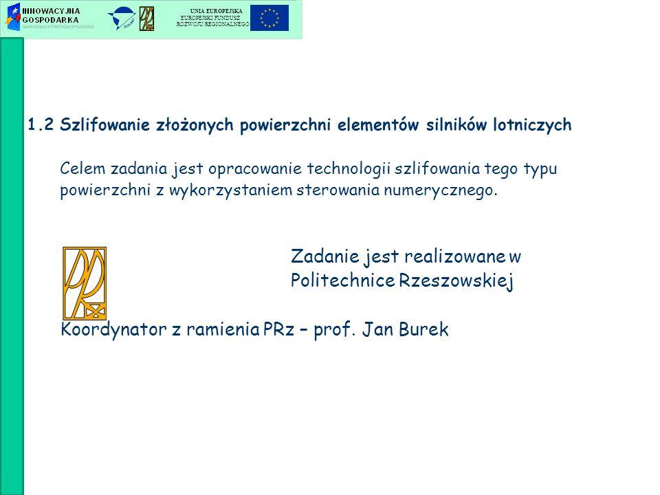 Zadanie jest realizowane w Katedrze Mechaniki Stosowanej Politechniki Lubelskiej oraz w Instytucie Technik Wytwarzania Politechniki Warszawskiej Koordynator z ramienia PL – prof.