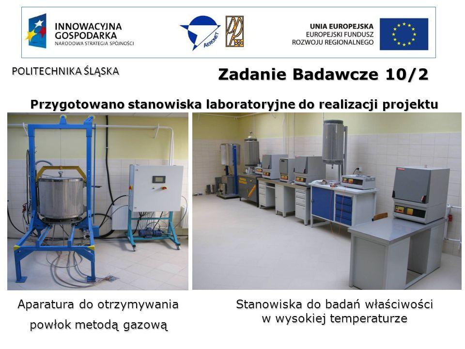 Zadanie Badawcze 10/2 Przygotowano stanowiska laboratoryjne do realizacji projektu Aparatura do otrzymywania powłok metodą gazową Stanowiska do badań