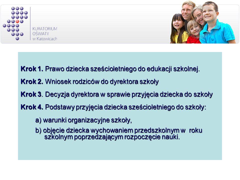 Krok 1. Prawo dziecka sześcioletniego do edukacji szkolnej.