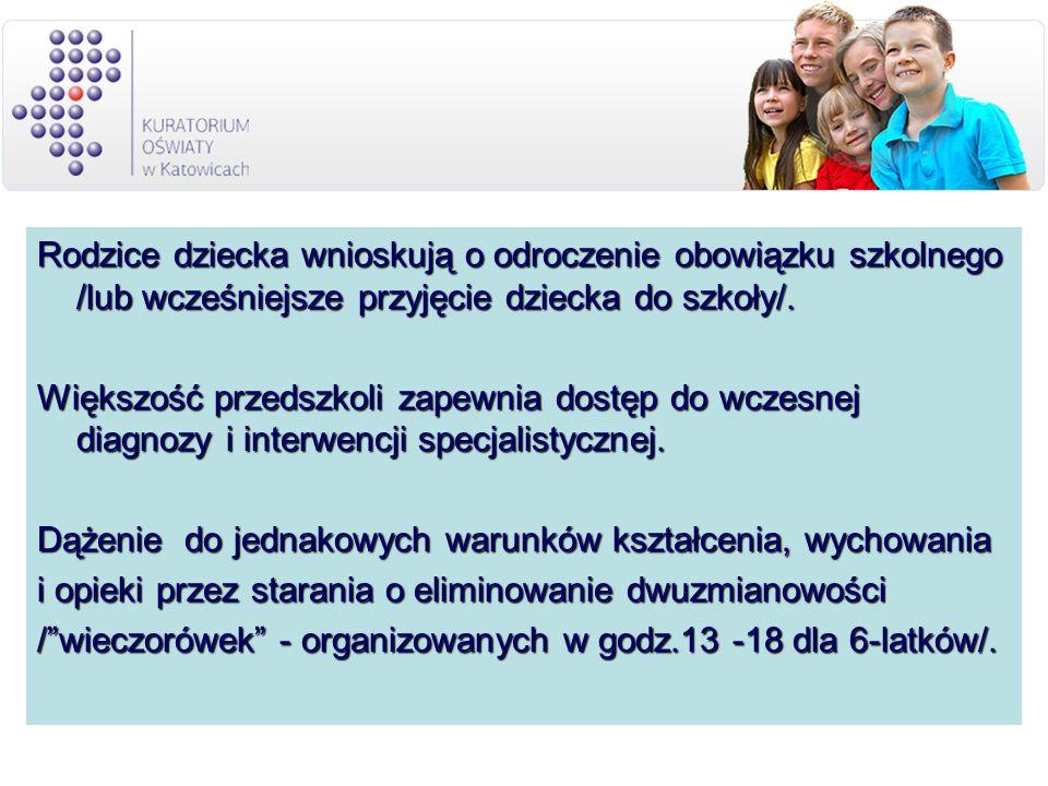 Rodzice dziecka wnioskują o odroczenie obowiązku szkolnego /lub wcześniejsze przyjęcie dziecka do szkoły/.
