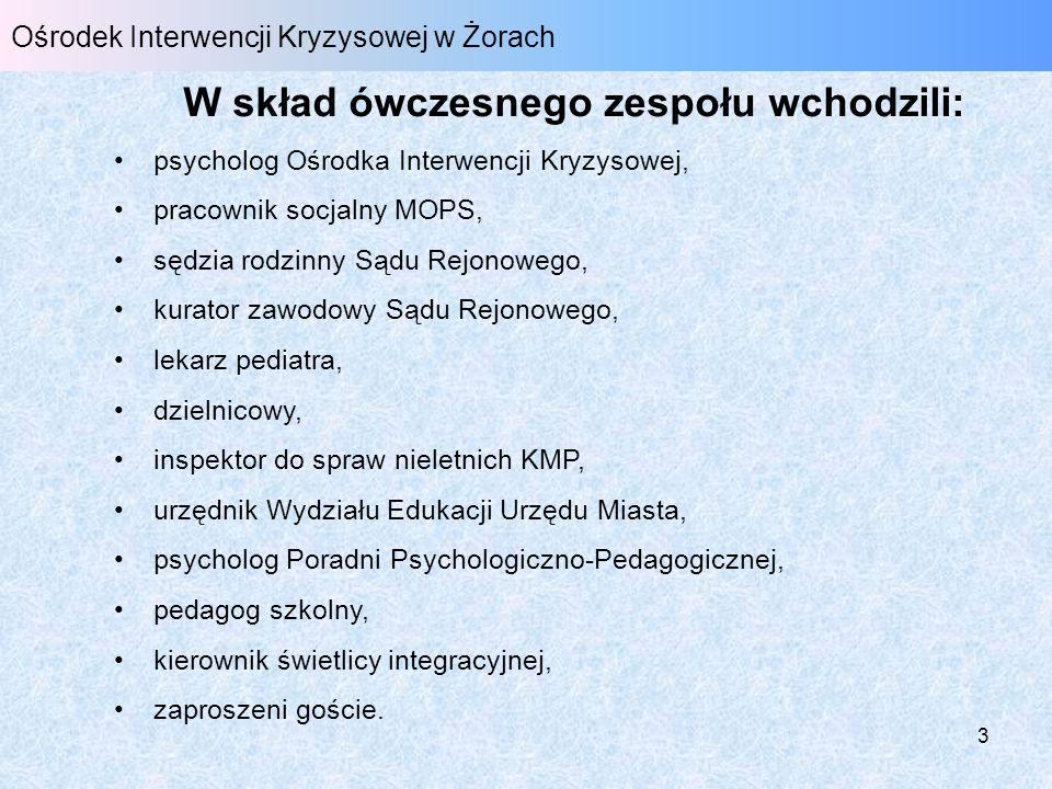 4 Ośrodek Interwencji Kryzysowej w Żorach Cel podstawowy Skuteczna, szybka i profesjonalna pomoc dziecku i jego rodzinie.