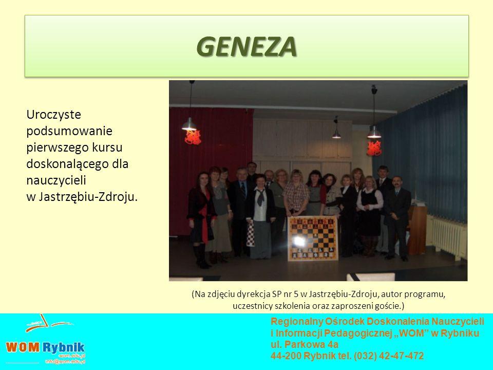 Uroczyste podsumowanie pierwszego kursu doskonalącego dla nauczycieli w Jastrzębiu-Zdroju. Regionalny Ośrodek Doskonalenia Nauczycieli i Informacji Pe