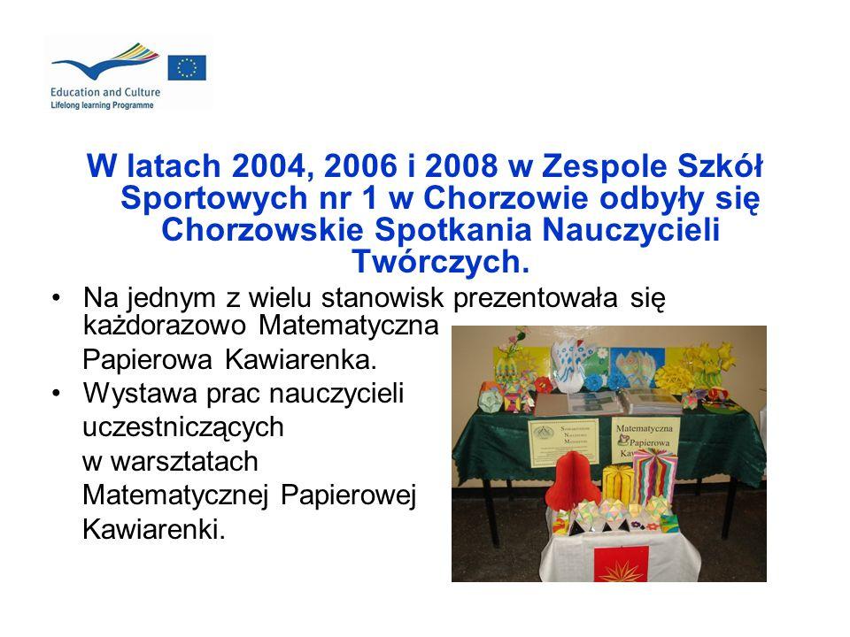 W latach 2004, 2006 i 2008 w Zespole Szkół Sportowych nr 1 w Chorzowie odbyły się Chorzowskie Spotkania Nauczycieli Twórczych. Na jednym z wielu stano