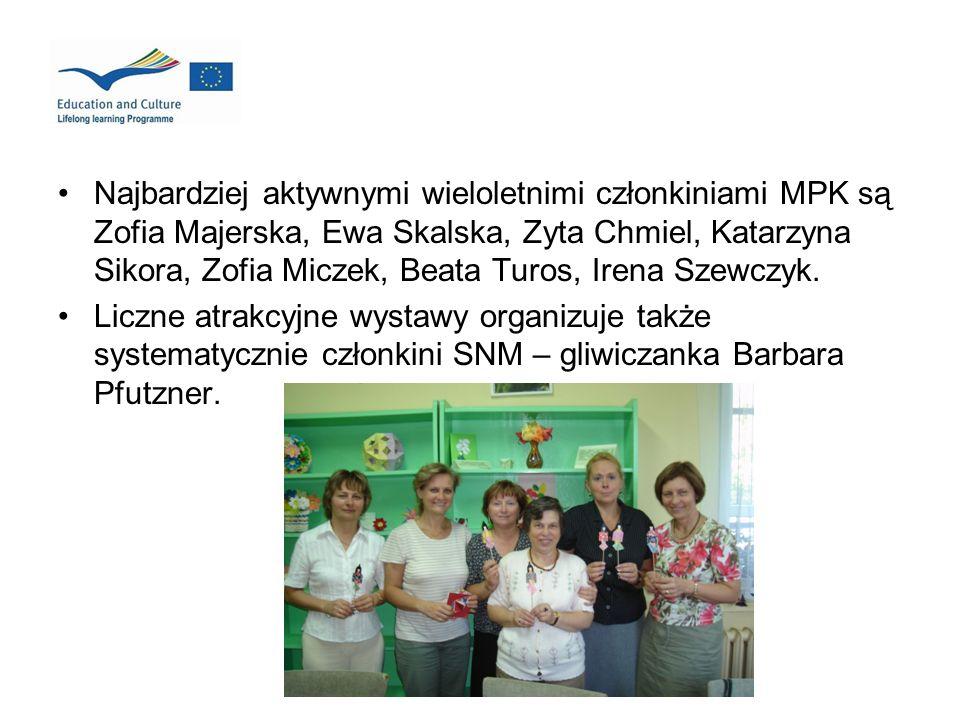 Najbardziej aktywnymi wieloletnimi członkiniami MPK są Zofia Majerska, Ewa Skalska, Zyta Chmiel, Katarzyna Sikora, Zofia Miczek, Beata Turos, Irena Sz
